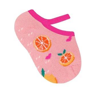 Meia para bebê modelo sapatilha estampada de menina Selene