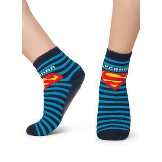 Meia Puket Soquete com sola emborrachada (Pansock) Superman Masculino