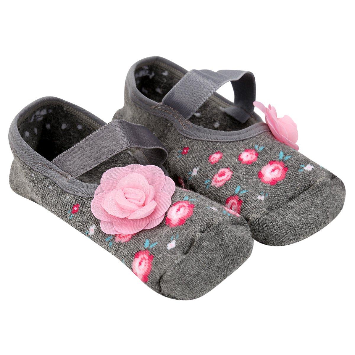 1843f51fdc81f5 Meia Sapatilha Puket Antiderrapante Floral - Mescla