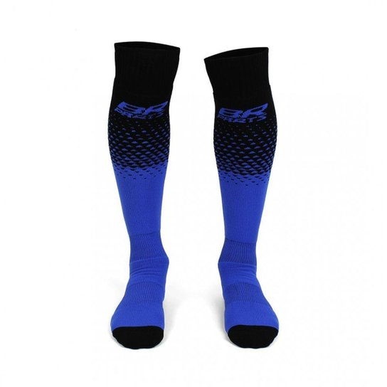 Meião BR Parts Halftone Unissex - Preto+Azul