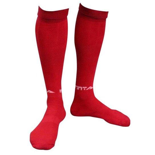 Meião Finta Alcance Futebol Juvenil 33 Ao 37 - 0129 - Vermelho