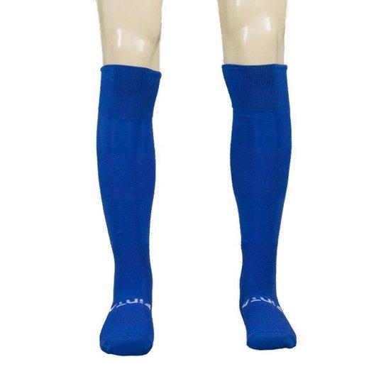 Meião Finta Profissional Futebol Adulto - Azul