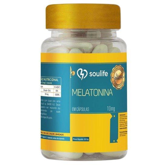 Melatonina 10mg 60 cápsulas Soulife -