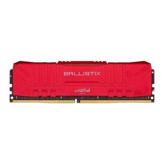 Memoria Crucial Ballistix 8GB (1x8) DDR4 2666Mhz Vermelha, BL8G26C16U4R