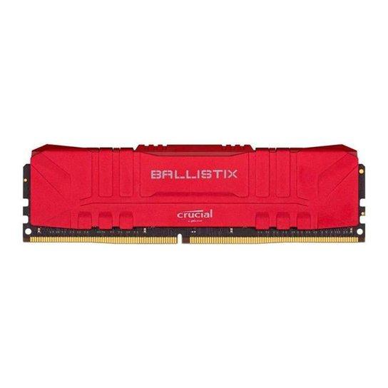 Memoria Crucial Ballistix 8GB (1x8) DDR4 2666Mhz Vermelha, BL8G26C16U4R - Vermelho