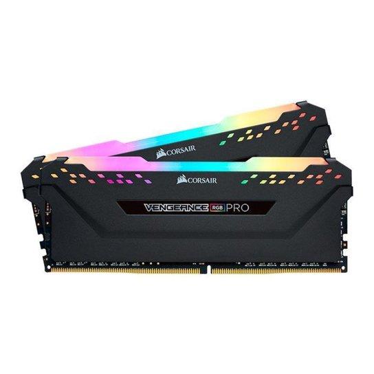 Memoria RAM Corsair Vengeance RGB PRO 16GB (2x8) DDR4 3200MHz C16 Preta, CMW16GX4M2C3200C16 - Preto