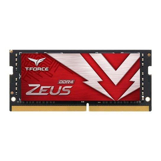 Memoria RAM Para Notebook Team Group T-Force Zeus 8GB (1x8) DDR4 2666MHz, TTZD48G2666HC19-S01 - Vermelho