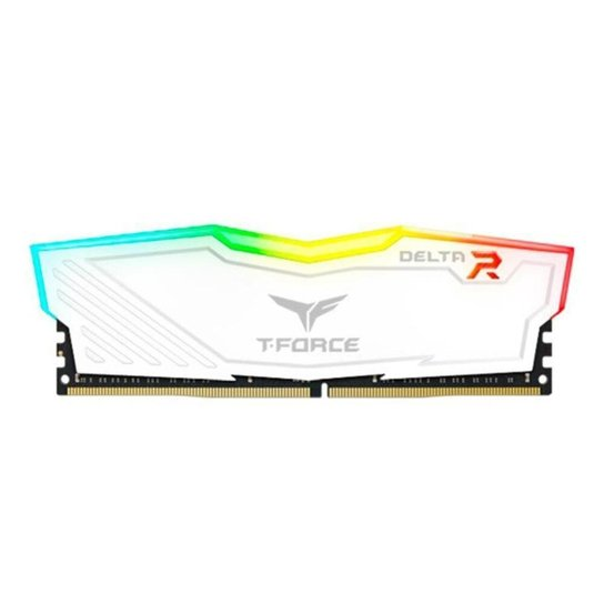 Memoria Team Group T-Force Delta 8GB (1x8) 3000Mhz DDR4 RGB Branca, TF4D48G3000HC16C01 - Branco