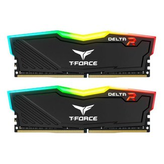 Memoria Team Group T-Force Delta RGB 16GB (2x8) DDR4 3000Mhz Preta, TF3D416G3000HC16CDC01