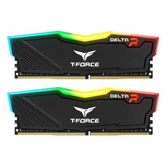 Memoria Team Group T-Force Delta RGB 16GB (2x8) DDR4 3000Mhz Preta, TF3D416G3000HC16CDC01 - Preto