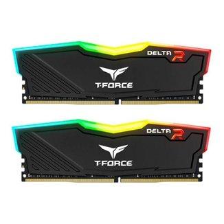 Memoria Team Group T-Force Delta RGB 16GB (2x8) DDR4 3200Mhz Preta, TF3D416G3200HC16CDC01