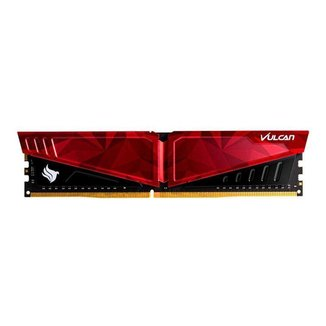 Memoria Team Group T-Force Vulcan Pichau 8GB (1x8) DDR4 2666Mhz Vermelha, TLPRD48G2666HC18H01