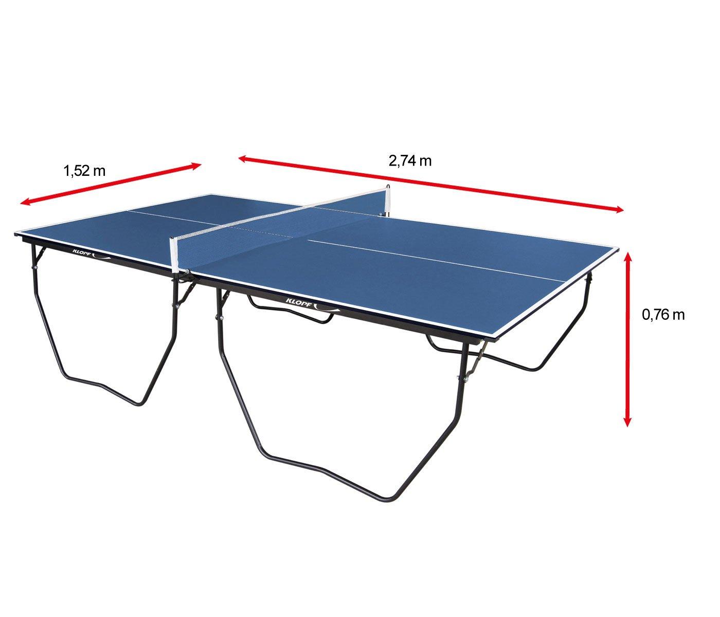 05c1f682b -10%. Mesa de Ping Pong   Tênis de Mesa Klopf c  Rodízio MDP - 15 mm