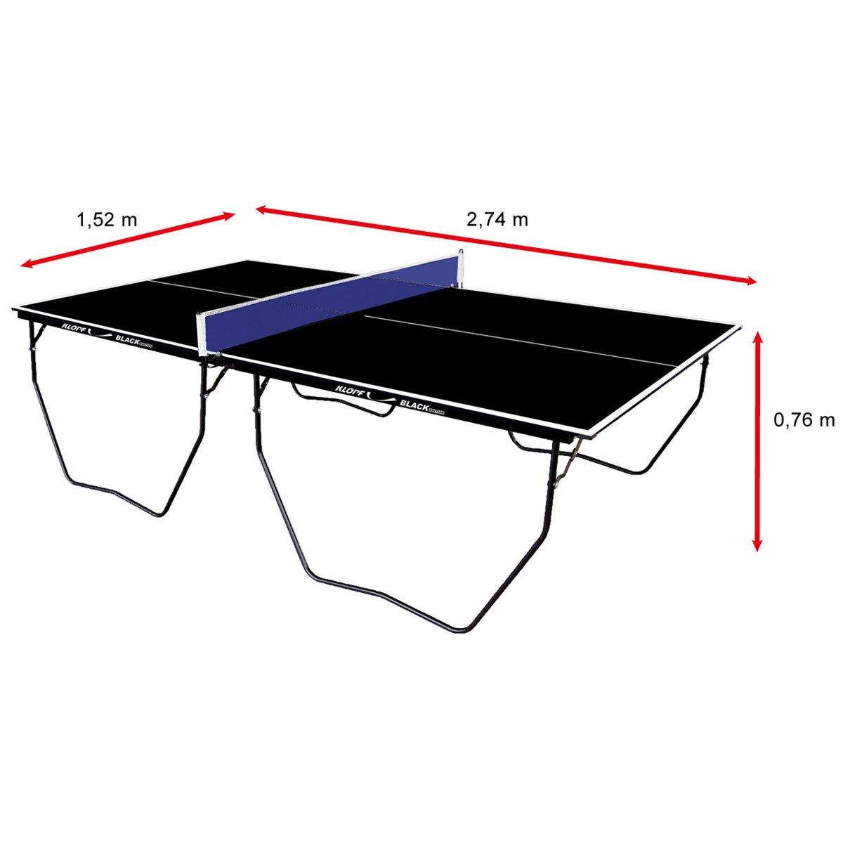 7b9fcb728a208 Mesa de Ping Pong   Tênis de Mesa Klopf Oficial Black Edition - 15 mm -  Preto - Compre Agora