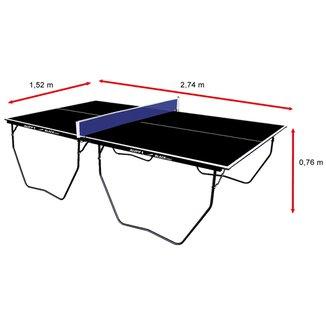 Mesa de Ping Pong / Tênis de Mesa Klopf Oficial Black Edition - 15 mm