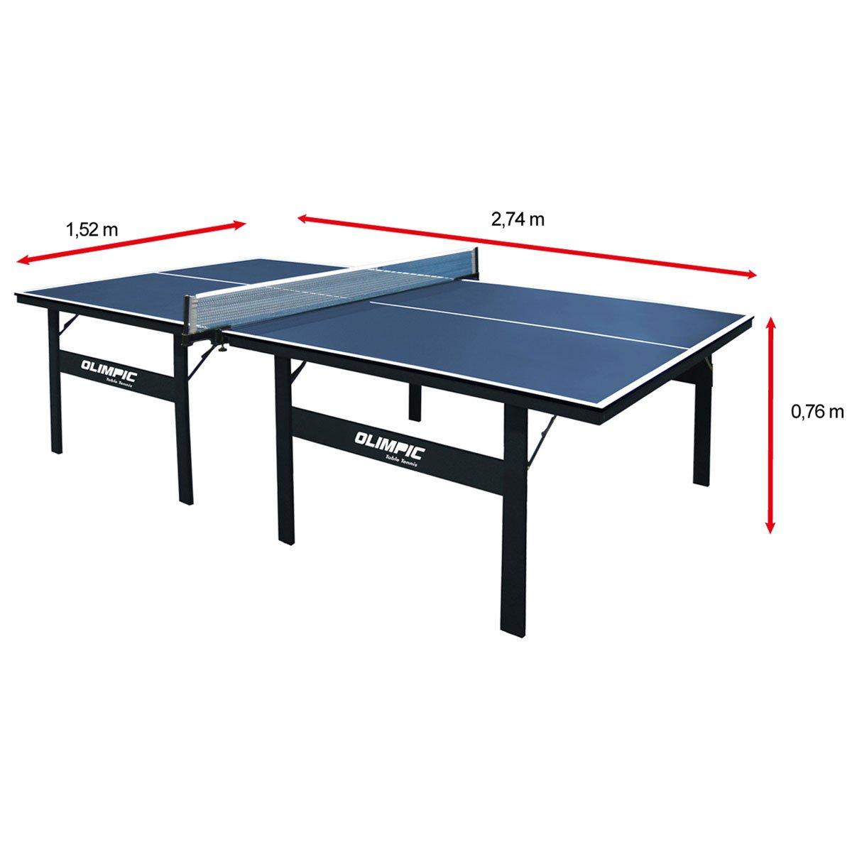 Mesa de ping pong t nis de mesa klopf olimpic 15 mm azul for Dimensiones mesa ping pong