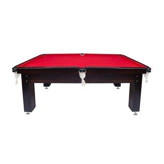 Mesa de Sinuca Bilhar Dinâmica Diversões Black & Red Pequena 1,75x1,07m