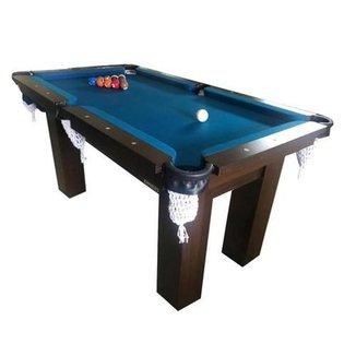 Mesa de Sinuca Snooker Bilhar Engers 0,90 x 1,60 Base de Pedra Tabaco Tecido