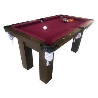 Mesa de Sinuca Snooker Bilhar Engers 1,12 x 1,95 Base de Pedra Tabaco Tecido Beterraba