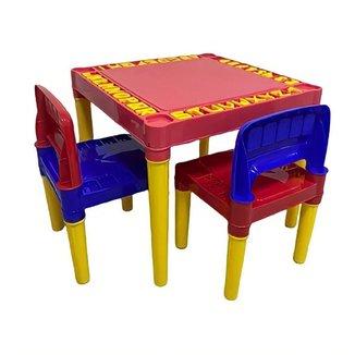 Mesa Educativa Infantil Mesinha Didática 2 Cadeiras