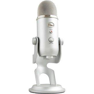 Microfone Condensador Logitech Blue Yeti - USB - Prata - 988-000103
