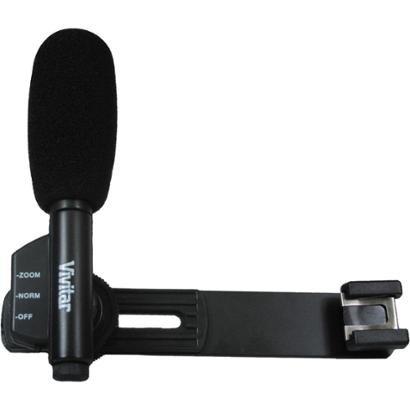 Microfone Mini c/ Zoom p/ Filmadora de Mão - VIVITAR VIVMIC403 - Unissex