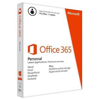 Microsoft Office 365 Personal - Licença Anual para 1 usuário - 1 PC ou Mac + 1 Tablet ou Smartphone