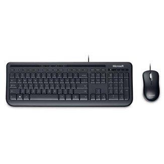 Microsoft Teclado e Mouse com Fio USB Preto - 3J200006