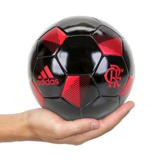 Mini Bola Adidas Flamengo - Preto e Vermelho