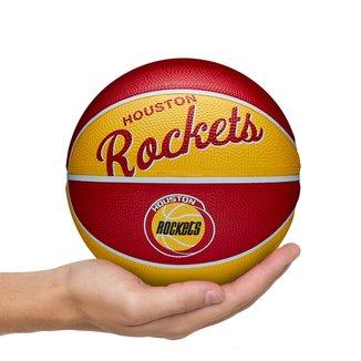 Mini Bola de Basquete NBA Retrô Houston Rockets Wilson #3