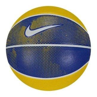 Mini Bola De Basquete Nike Swoosh T3 - Azul / Amarela