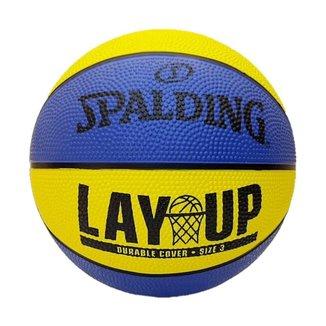 Mini Bola de Basquete Spalding Lay-Up Baby -  Borracha