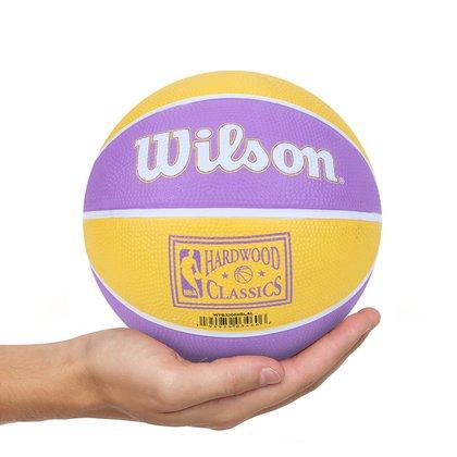 Mini Bola de Basquete Wilson NBA Team Retrô Los Angeles Lakers #3