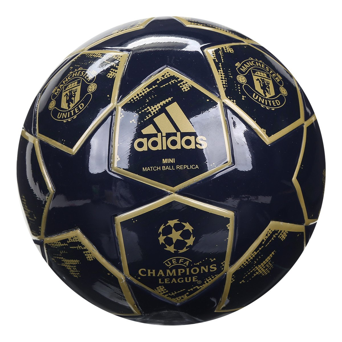 Mini Bola de Futebol Manchester United Adidas Finale 18 - Marinho ... f8a44c8c1dfa1