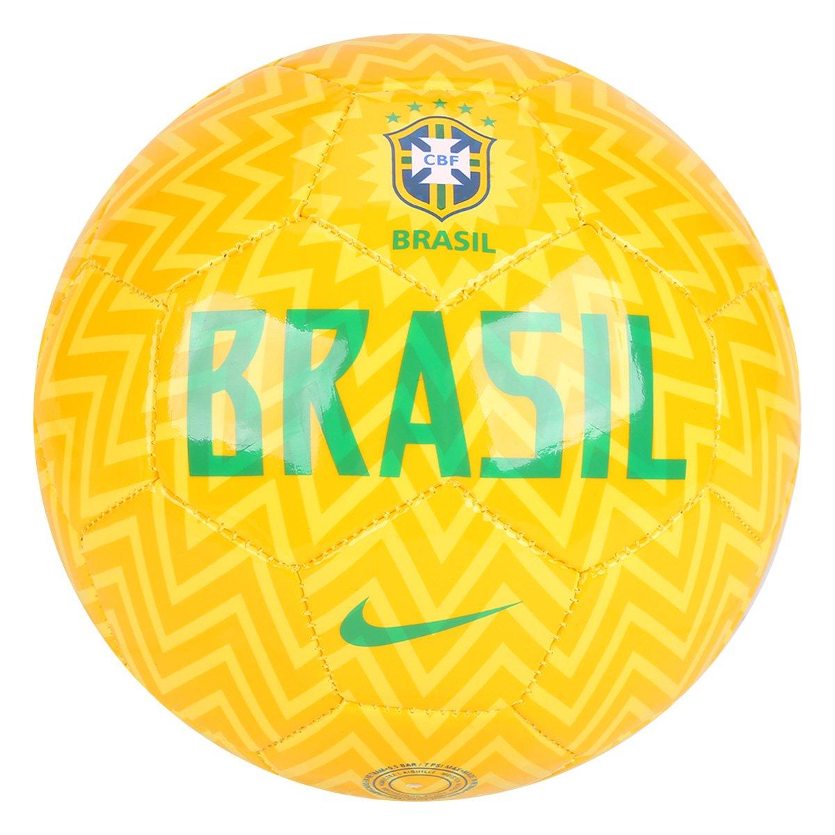 8f034510f2132 Mini Bola de Futebol Nike CBF - Dourado e Verde - Compre Agora ...