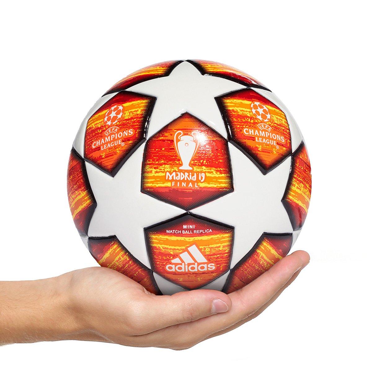 61ca6449537a0 Mini Bola Futebol Adidas Uefa Champions League Finale 19 Match Ball Replique  - Branco e Vermelho - Compre Agora