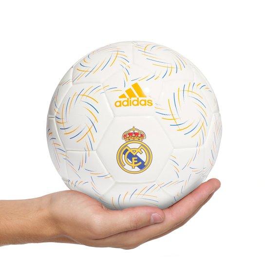 Mini Bola Real Madrid Adidas - Branco+Preto