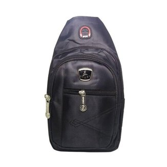Mini Bolsa Mochila Transversal Cross Body Sport Alça Única Unissex Cadernos Tablet Smartphone Vários