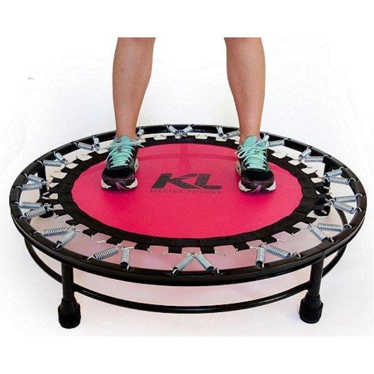 Mini Cama Elástica Trampolim Jump Profissional 150 Kg Fitness - Rosa