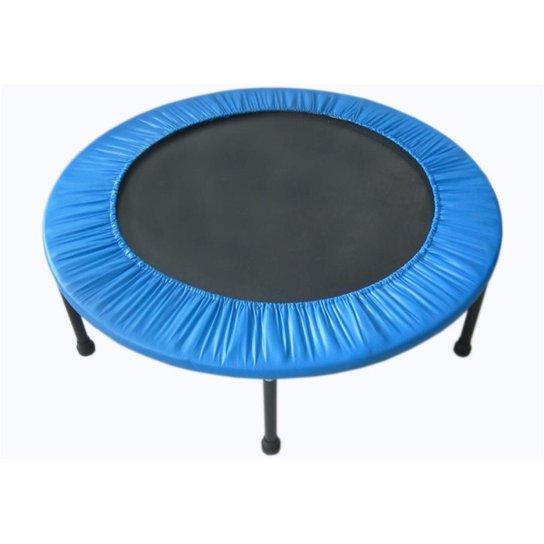 Mini  Jump Cama Elástica Trampolim Profissional 136cm Pelegrin - Azul+Preto