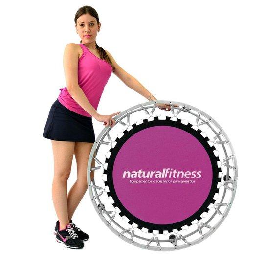 Mini Jump Profissional Trampolim + DVD de Aula Natural Fitness - Rosa