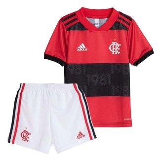 Mini Kit Flamengo Jogo 1 Adidas 2021 18-24 Meses