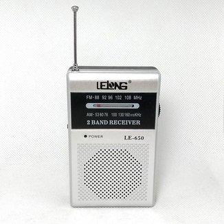 Mini Rádio Portátil Am/fm Lelong Le-650