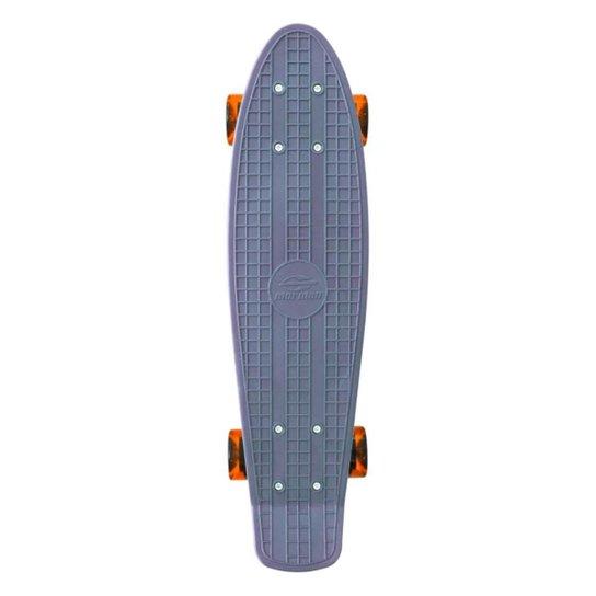 Mini Skate Cruiser Longboard Rodas Truck Abec-7 Surf Mormaii - Cinza