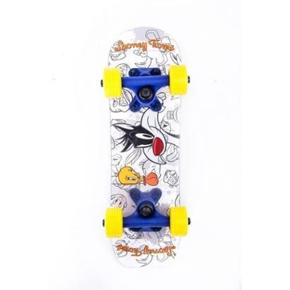 Mini Skate Loony Tunes Frajola - Unissex - Branco+Azul - 7896777915059