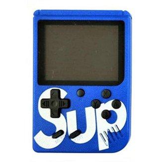 Mini Super Vídeo Game Portátil 400 Jogos Cabo Av Super Mario Azul