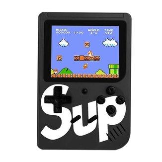 Mini Super Vídeo Game Portátil 400 Jogos Cabo Av Super Mario Preto