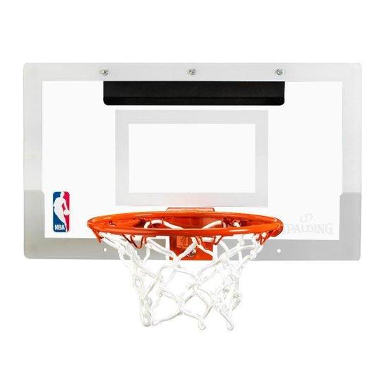 Mini Tabela de Basquete Spalding NBA Arena Slam 180° - Policarbonato - Incolor