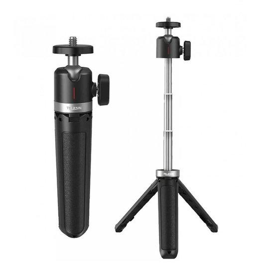 Mini Tripé e Bastão para Câmeras DSLR / Celular - Telesin - Incolor