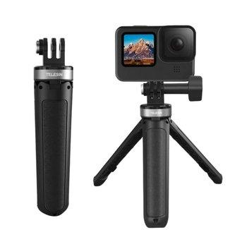 Mini Tripé e Bastão para GoPro e Câmeras Similares - Telesin